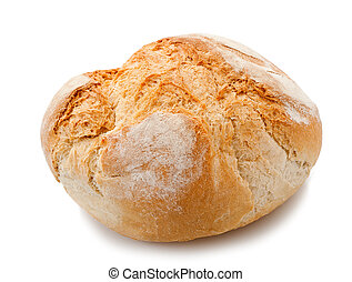 one loaf isolated on white
