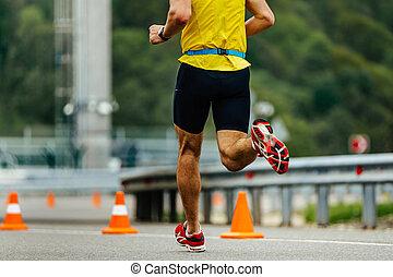 one male athlete runner