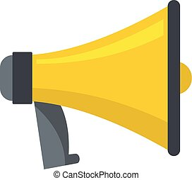 One megaphone icon, cartoon style