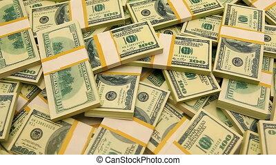one million dollars in bundles of one hundred dollar bills
