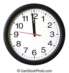 An isolated shot of a clock with one minute left to 12.