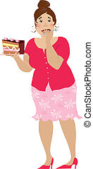 One more cake - Lady doing very difficult decision