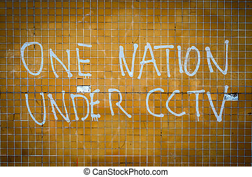 One Nation Under CCTV Graffiti