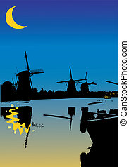 One night from the windmills