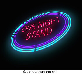 One night stand concept.