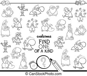 one of a kind Christmas character color book - Black and...