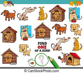 one of a kind game for kids with dogs animals
