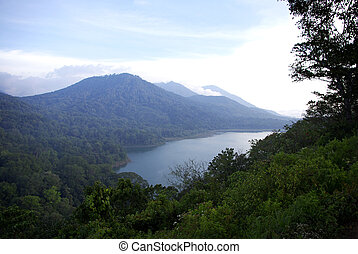 one of four lakes of Bali island