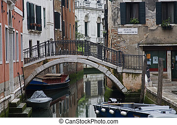 Venice - One of many canals with typical Venusian ...