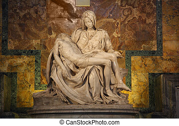 One of Michelangelo's most famous works: Pieta in St. Peter'...