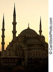 One of most famous mosque located in Istanbul, Turkey. Picture in vertical position