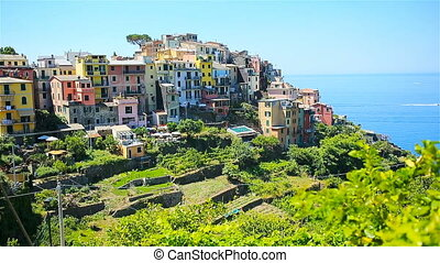 One of old five famous colorful villages of Cinque Terre National Park in Italy