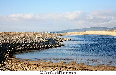 One of the beautiful beaches in Sardinia, Italy.