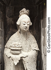 One of the eight statues of gods. - one of the eight statues...