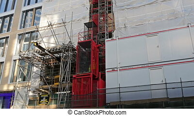 One of the elevator from a construction area in London