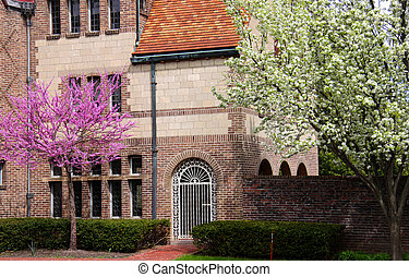 historic Cranbrook house - One of the entrances of historic...