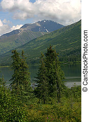 Alaska - One of the many beautiful lakes on the Kenai ...