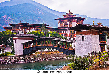 One of the most beautiful fortress called Punaka Dzong in Punakha