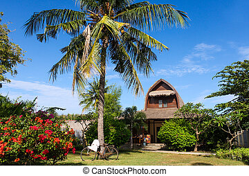 One of the most beautiful houses where you can stay while on vacation in paradise.