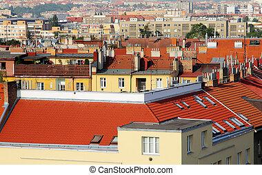 one of the non-tourist areas of Prague