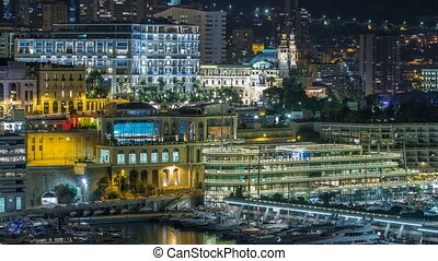 One of the sides of the Monte Carlo Casino night timelapse...
