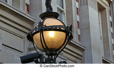 One of the street lamps in London