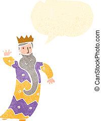 one of the three kings retro cartoon