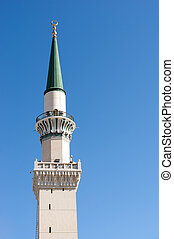 One of the towers at Nabawi Mosque
