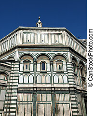 One of the walls of the Baptistery in Piazza Del Duomo in Florence