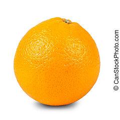 one orange closeup