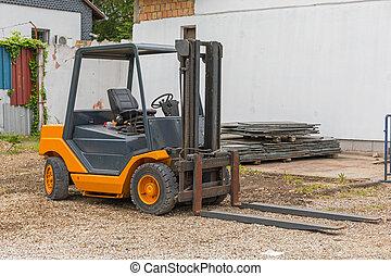 Orange Forklift