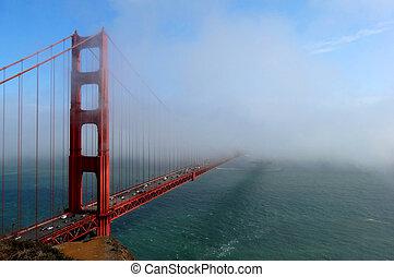 One Part of the Golden Gate Bridge
