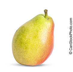 One pear isolated on white background