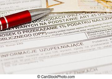 one percent for public benefit organization, Polish tax form