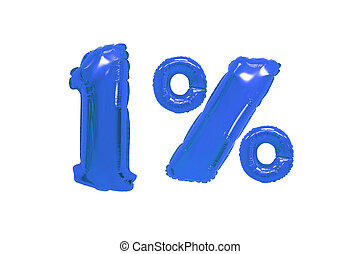 one percent from balloons dark blue color
