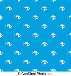One person tent pattern seamless blue