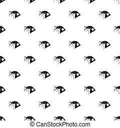 One person tent pattern seamless repeating for any web...