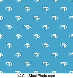 One person tent pattern vector seamless blue