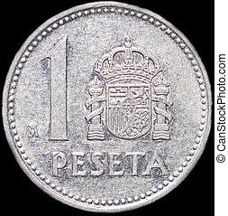 One peseta