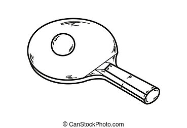 one ping pong racket - vector, one ping pong racket and...