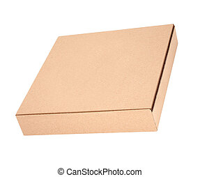 one pizza box on white background