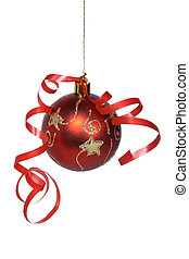Christmas ball with a ribbon