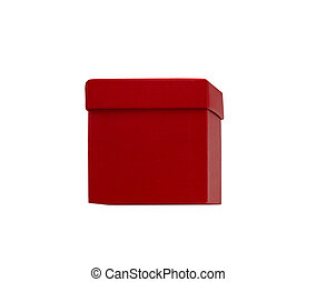 one red box on white background
