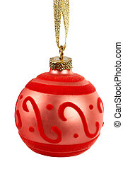 One red Christmas ball