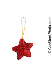 One red Christmas star
