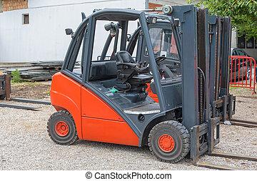 Red Forklift