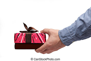 One red present box