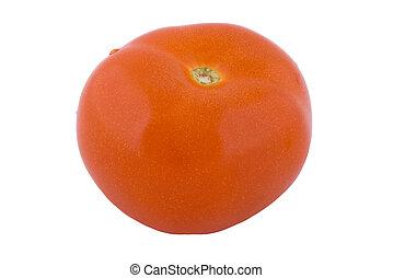 One ripe fresh tomato