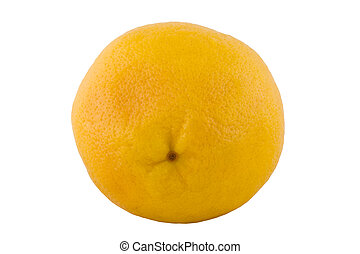one ripe grapefruit