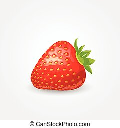 One ripe strawberry
